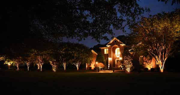 Landscape lighting Williamsburg VA